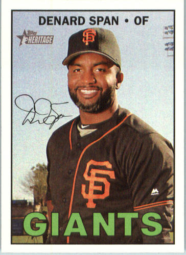 Photo of 2016 Topps Heritage #623 Denard Span
