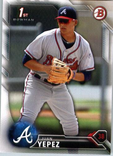 Photo of 2016 Bowman Prospects #BP29 Juan Yepez