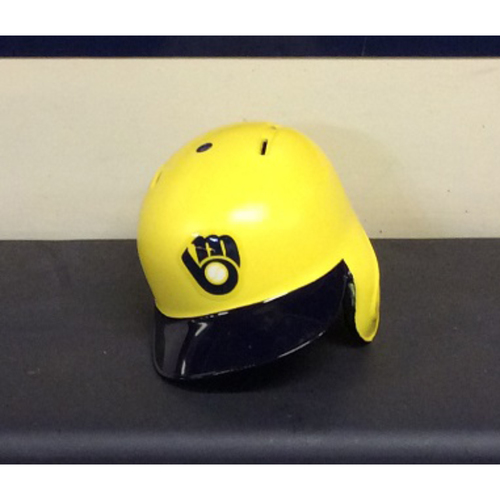 """Photo of Manny """"PINEAPPLE"""" Pina Game-Used 2018 Players Weekend Batting Helmet - 2-Run HR (08/26/18)"""
