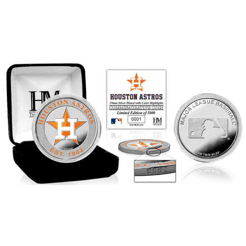 Photo of Serial #1! Houston Astros Silver Color Coin