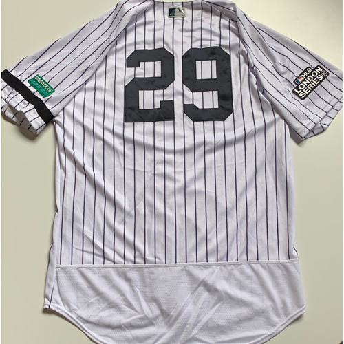 Photo of 2019 London Series - Game-Used Jersey - Giovanny Urshela, New York Yankees vs Boston Red Sox - 6/29/19