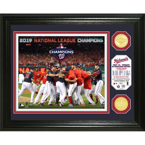 Photo of 2019 Washington Nationals  NL Champions Celebration Bronze Coin Photo Mint