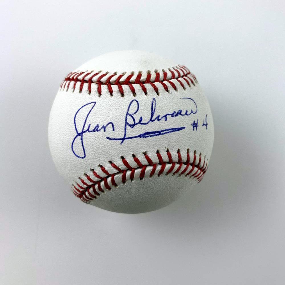 JEAN BELIVEAU Signed Baseball