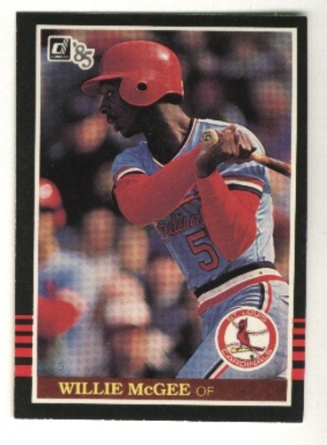 Photo of 1985 Donruss #475 Willie McGee