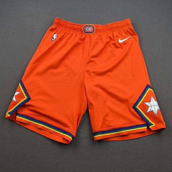 Image of Eric Paschall - 2020 NBA Rising Stars - Team USA - Game-Worn 1st Half Shorts