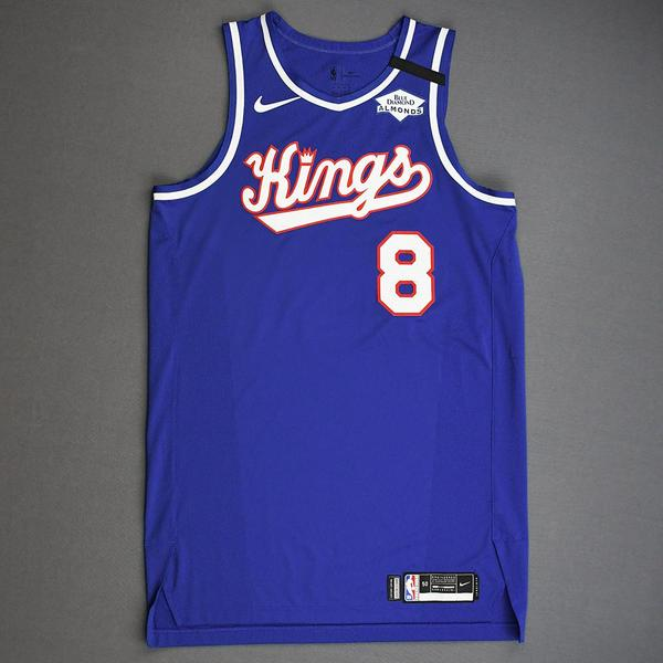 Image of Bogdan Bogdanovic - Sacramento Kings - Game-Worn Classic Edition 1990-94 Road Jersey - 1 of 2 - 2019-20 NBA Season