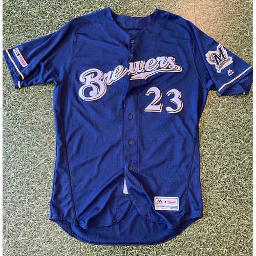 Photo of 2019 Game-Used Jersey: #23 Jordan Lyles (Win #12 9/25/19)