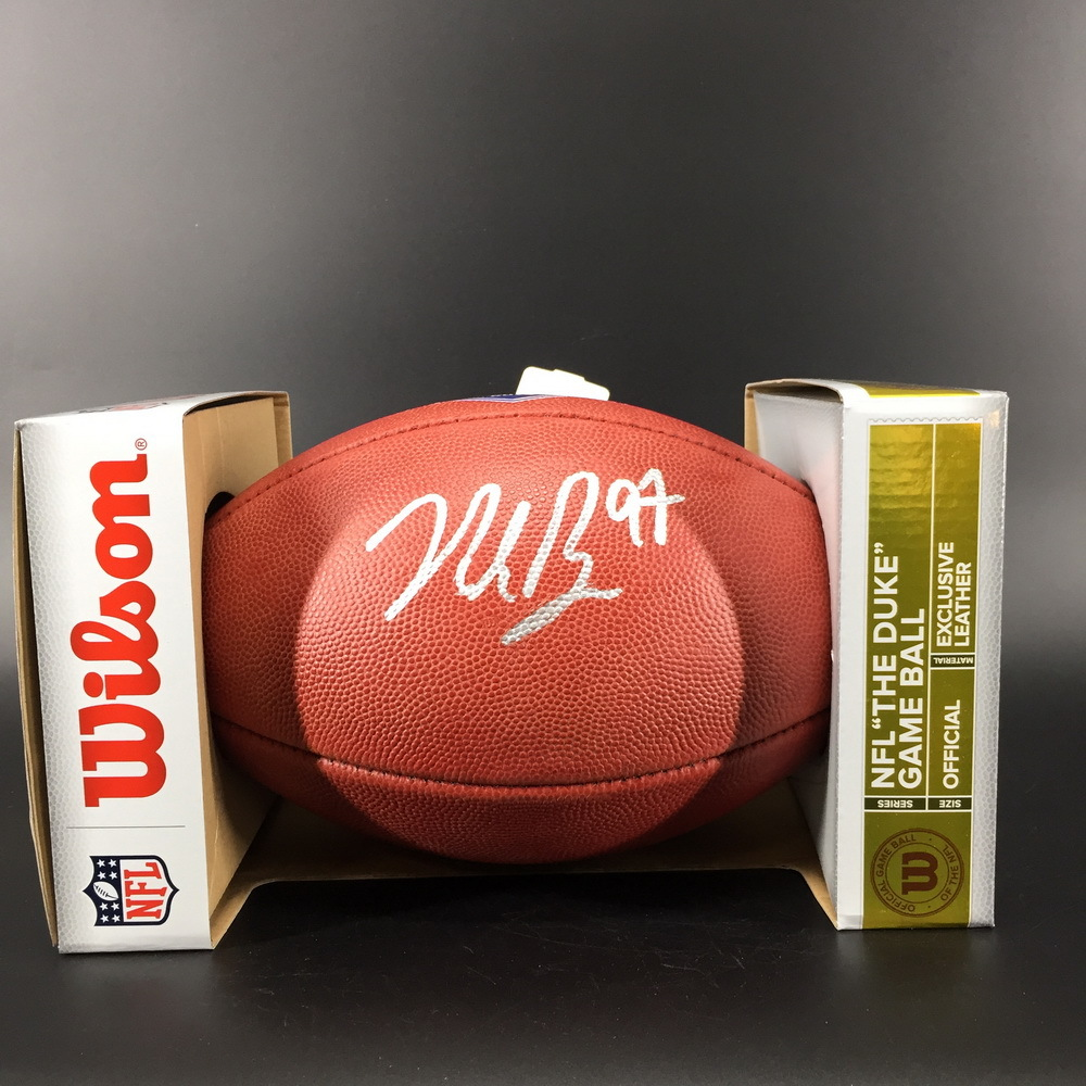 NFL - 49ers Nick Bosa Signed Authentic Football W/ 2019 Draft Logo
