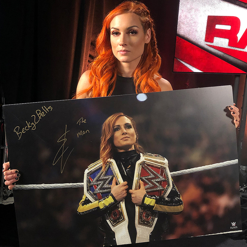 Becky Lynch SIGNED large photo print