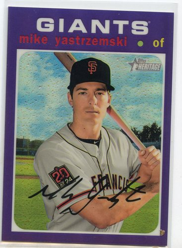 Photo of 2020 Topps Heritage Chrome Purple Refractors #THC426 Mike Yastrzemski