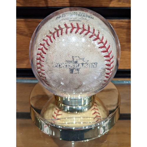Photo of 2013 ALCS Game 2 Detroit Tigers vs. Boston Red Sox October 13, 2013 Game Used Baseball - Max Scherzer to Will Middlebrooks - Foul