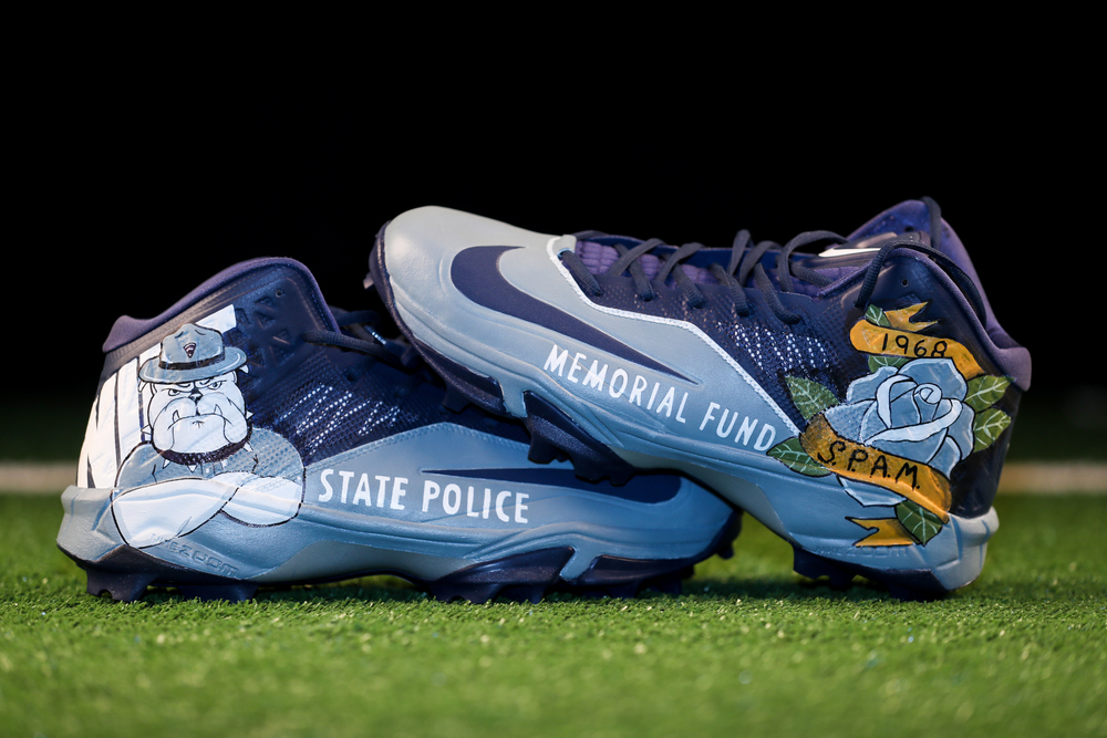 My Cause My Cleats - Patriots David Andrews Custom Cleats - The State Police Association of Massachusetts - Will be autographed