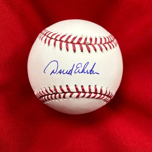 Photo of David Eckstein Autographed Baseball