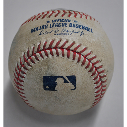 Photo of Game-Used Baseball - MIN vs. PIT - 8/6/2020 - Pitcher - Cody Ponce, Batter - Eddie Rosario, Top 5, Home Run