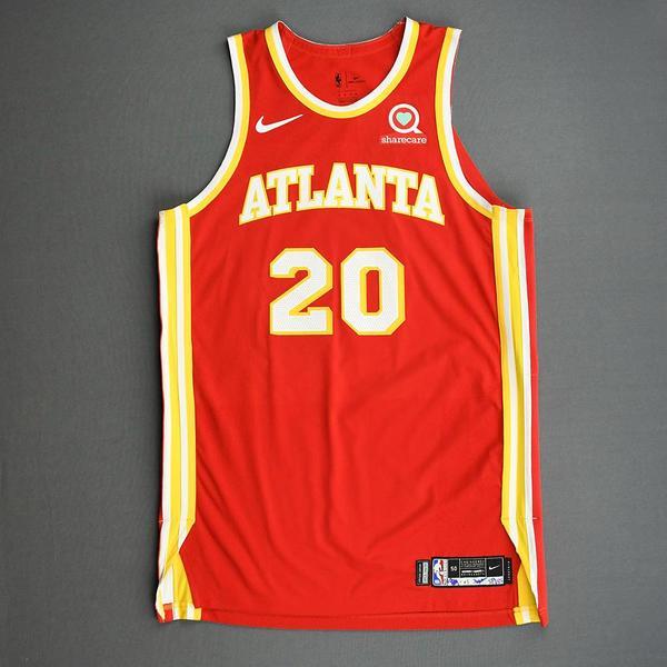 Image of John Collins - Atlanta Hawks - Game-Worn Icon Edition Jersey - 2020-21 NBA Season