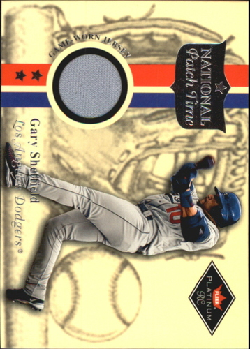 Photo of 2001 Fleer Platinum National Patch Time #56 Gary Sheffield S2