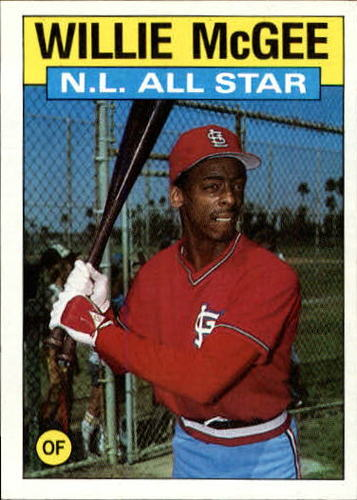 Photo of 1986 Topps #707 Willie McGee AS