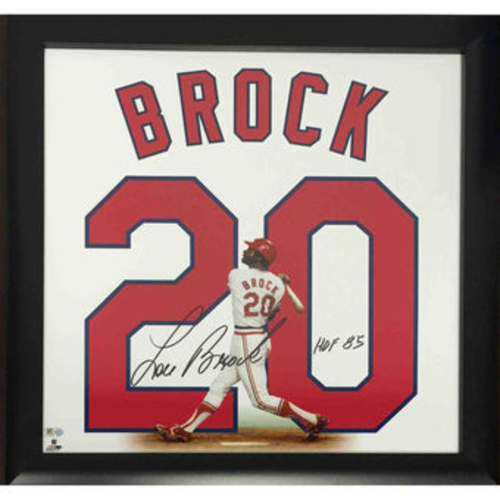 Photo of Cardinals Authentics: Lou Brock Autographed Retired Numbers Collection