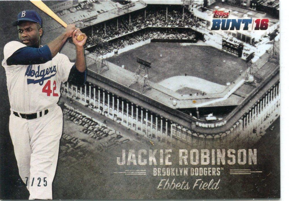 2016 Topps Bunt Stadium Heritage #SH5 Jackie Robinson 17/25 Ebbets Field