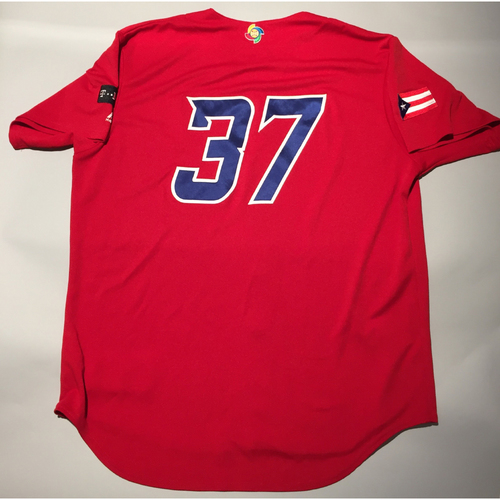 2017 WBC: Puerto Rico Game-Used Batting Practice Jersey, #37