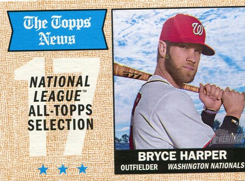 Photo of 2017 Topps Heritage #377 Bryce Harper