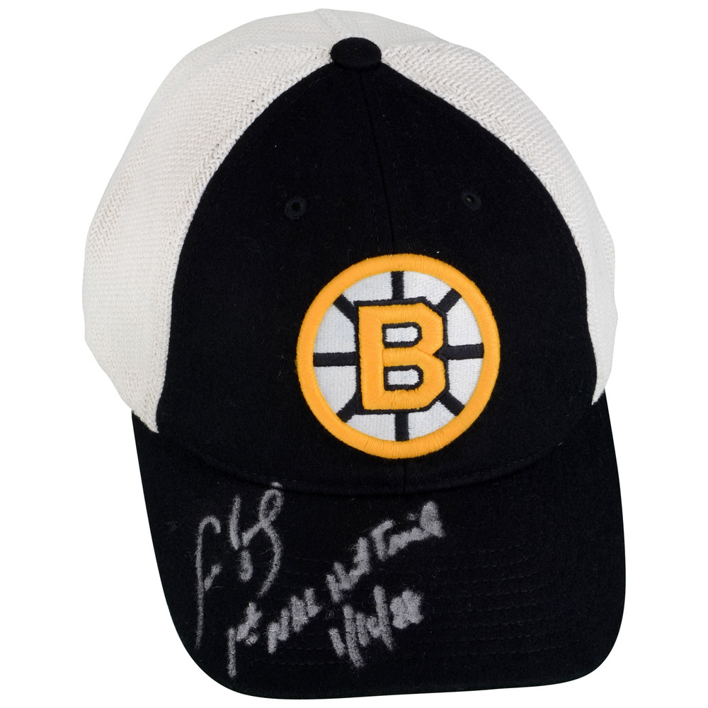 Cam Neely Boston Bruins Autographed Cap with 1st NHL Hat Trick 1/16/88 Inscription - #1 of a Limited Edition of 8