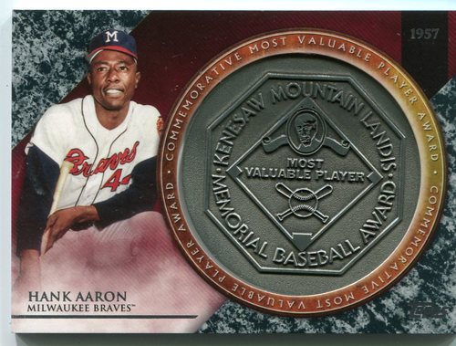Photo of 2017 Topps Update MVP Award Relics #MVPRHA Hank Aaron