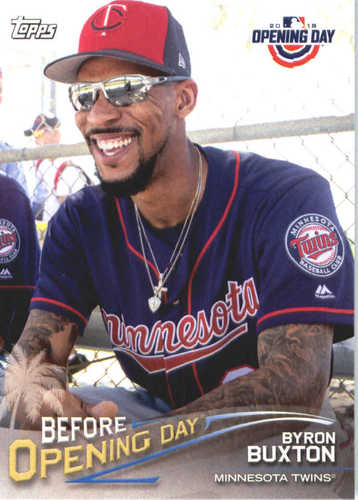 Photo of 2018 Topps Opening Day Before Opening Day #BODBB Byron Buxton