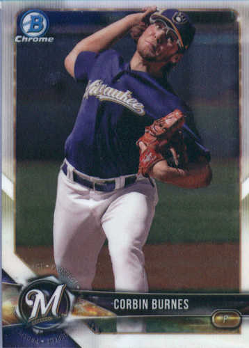 Photo of 2018 Bowman Chrome Prospects #BCP132 Corbin Burnes
