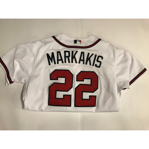 Photo of Nick Markakis Game Used Opening Day Walk-Off Home Run Jersey - March 29, 2018