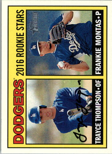 Photo of 2016 Topps Heritage #163 Frankie Montas RC/Trayce Thompson RC