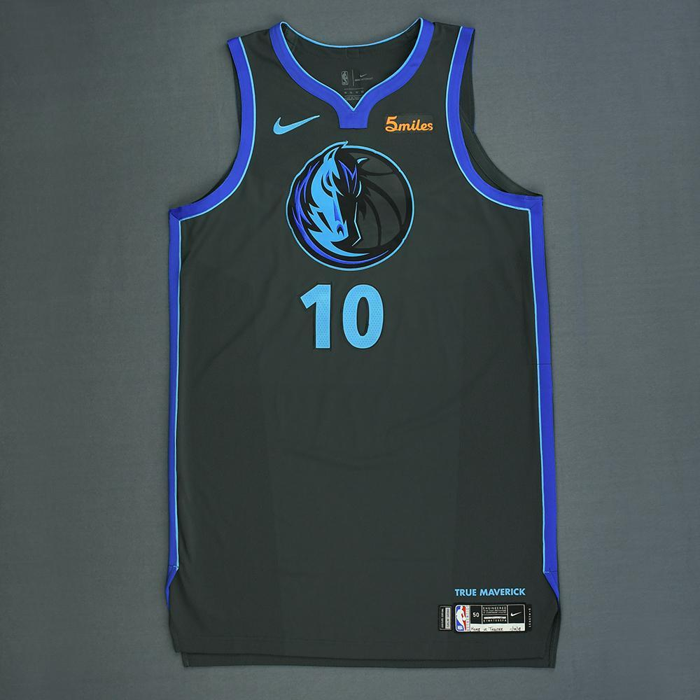 Dorian Finney-Smith - Dallas Mavericks - Game-Worn City Edition Jersey - 2018-19 Season
