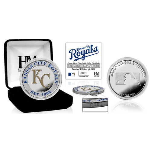 Photo of Serial #1! Kansas City Royals Silver Color Coin