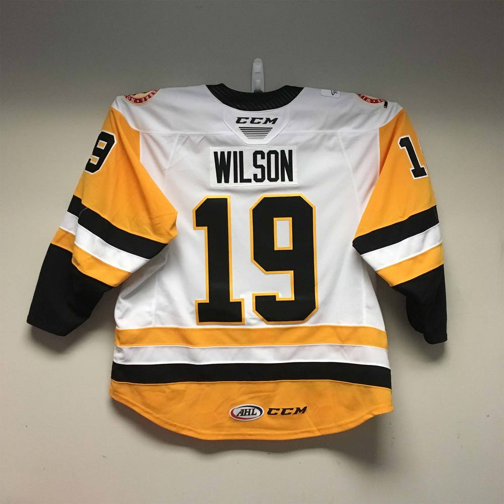 Wilkes-Barre/Scranton Penguins Captains Jersey worn and signed by #19 Garrett Wilson