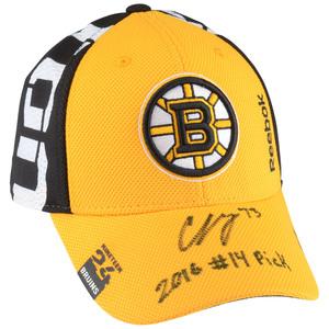 697a9d3010de7 Charlie McAvoy Boston Bruins Autographed 2016 Draft Cap with 2016  14 Pick  Inscription - Limited Edition 1 of 16Charlie McAvoy Boston Bruins  Autographed ...