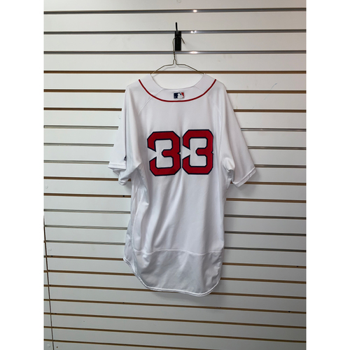 Photo of Jason Varitek Team Issued 2018 Postseason Home Jersey