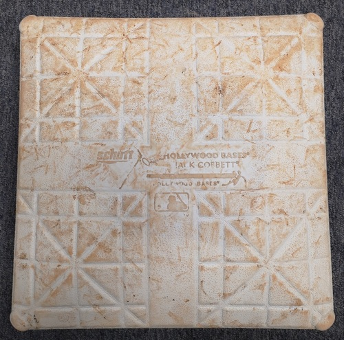 Photo of Authenticated Game Used Base - 1st Base for Innings 1 to 5 (Sept 18, 13 vs NYY).  From Mariano Rivera's Final Career Save Game, setting All-time Save Record at 652 (Peg Not Included).
