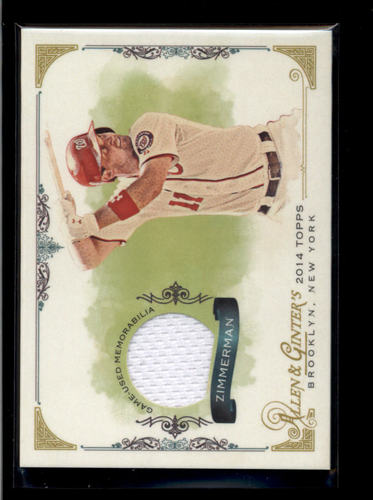 Photo of 2014 Topps Allen and Ginter Relics #FSRRZ Ryan Zimmerman A