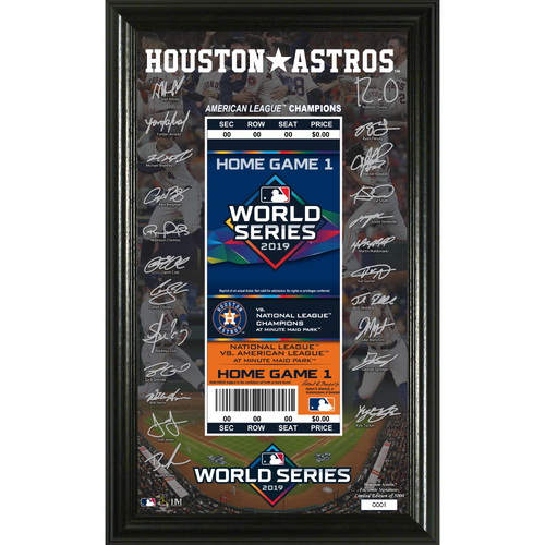 Photo of 2019 Houston Astros AL Champions Signature Ticket Photo Mint