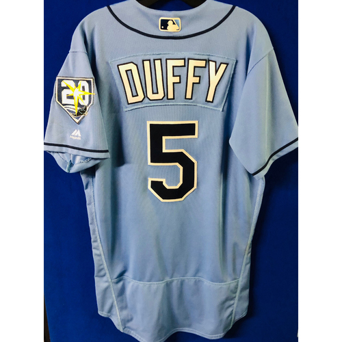 Photo of Game-Used Jersey: Matt Duffy (size 42) - September 9, 2018 v BAL