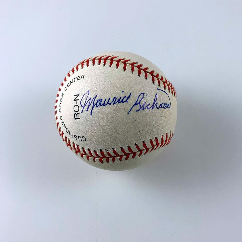 MAURICE RICHARD Signed Baseball