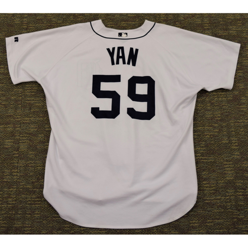 Photo of Esteban Yan Detroit Tigers #59 Home Jersey (NOT MLB AUTHENTICATED)