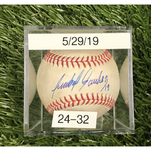 Photo of Win #24: 5/29/2019 Game-Used Baseball - Autographed by Anibal Sanchez