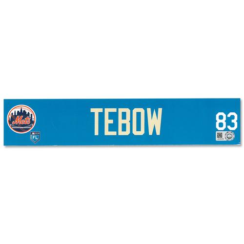 Tim Tebow #83 - Team Issued Locker Nameplate - 2018 Spring Training