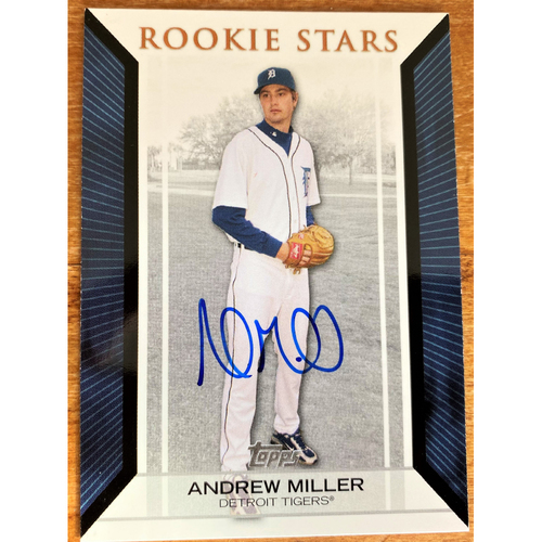 Photo of Andrew Miller Autographed Detroit Tigers 2007 Topps Rookie Stars Baseball Card (NOT MLB AUTHENTICATED)