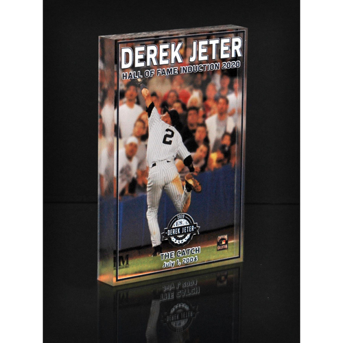 "Photo of MLB AUCTIONS EXCLUSIVE: Derek Jeter HOF ""The Catch"" Acrylic Block Collection #2 - Series of 7!"