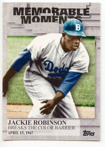 Photo of 2017 Topps Memorable Moments #MM33 Jackie Robinson