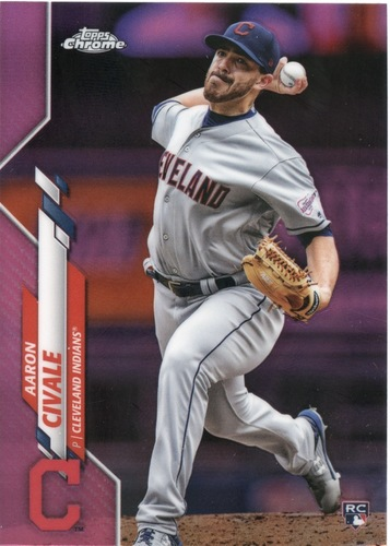 Photo of 2020 Topps Chrome Pink Refractors #143 Aaron Civale