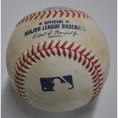 Photo of Game-Used Baseball - MIN vs. PIT - 8/6/2020 - Pitcher - Chris Stratton, Batter - Nelson Cruz, Top 7, Single