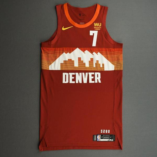 Image of Facundo Campazzo - Denver Nuggets - Game-Worn City Edition Jersey - Christmas Day' 20